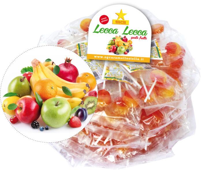 Lecca lecca gusto  frutta